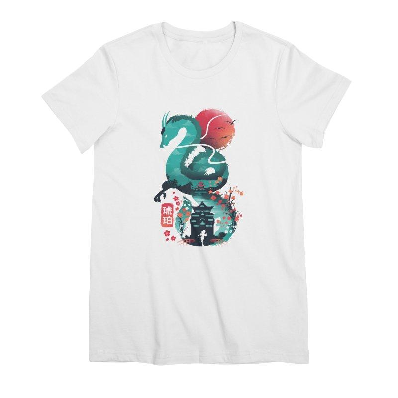 Haku Ukiyoe Women's Premium T-Shirt by dandingeroz's Artist Shop