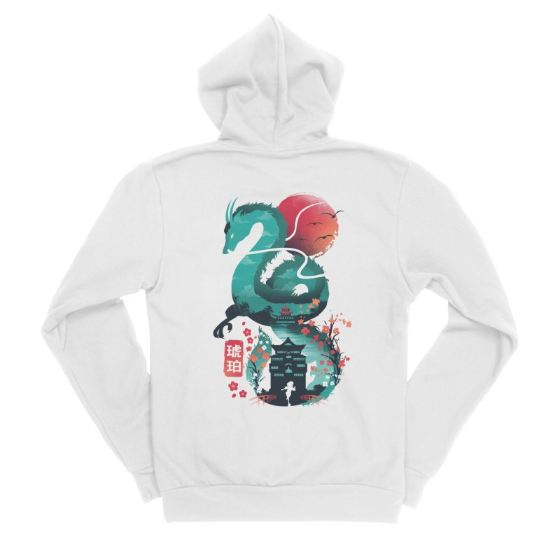 Haku Ukiyoe Women's Sponge Fleece Zip-Up Hoody by dandingeroz's Artist Shop