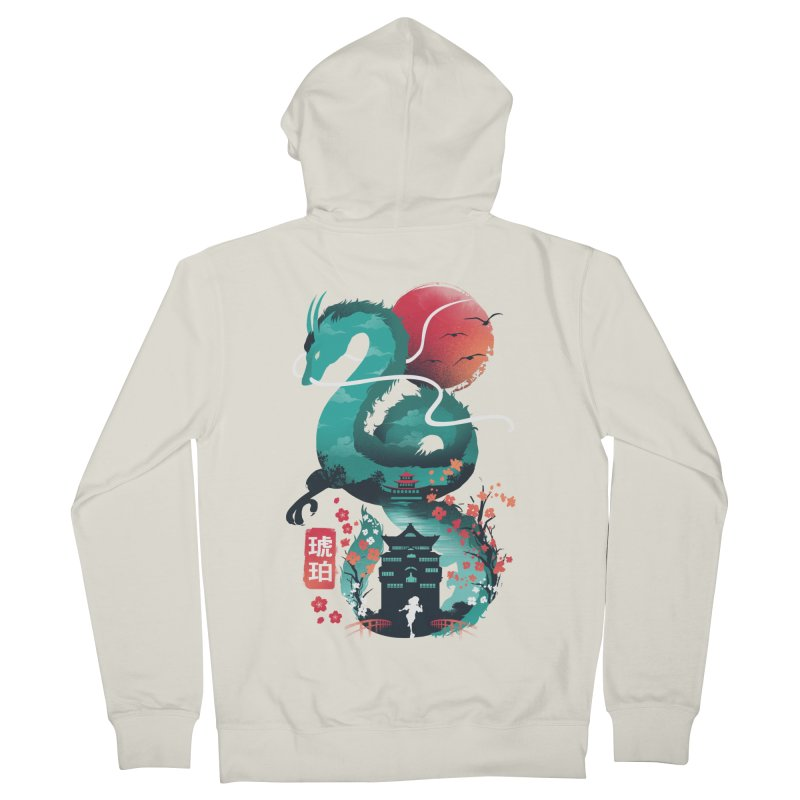 Haku Ukiyoe Women's French Terry Zip-Up Hoody by dandingeroz's Artist Shop