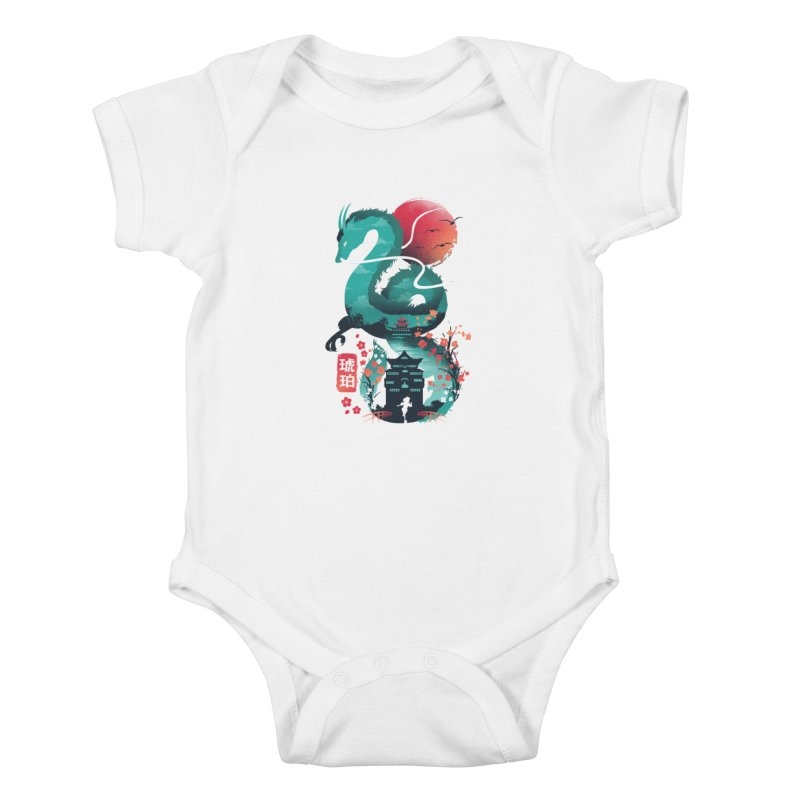 Haku Ukiyoe Kids Baby Bodysuit by dandingeroz's Artist Shop