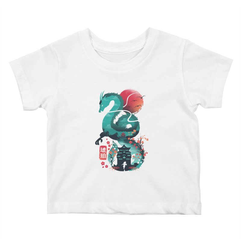 Haku Ukiyoe Kids Baby T-Shirt by dandingeroz's Artist Shop
