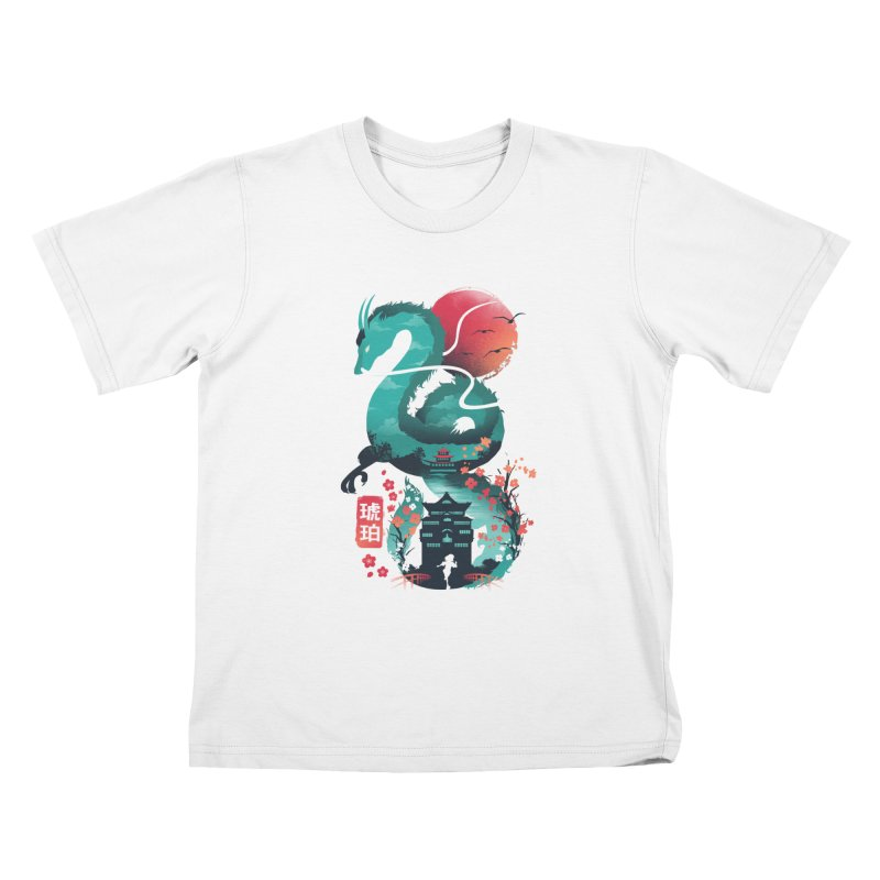 Haku Ukiyoe Kids T-Shirt by dandingeroz's Artist Shop