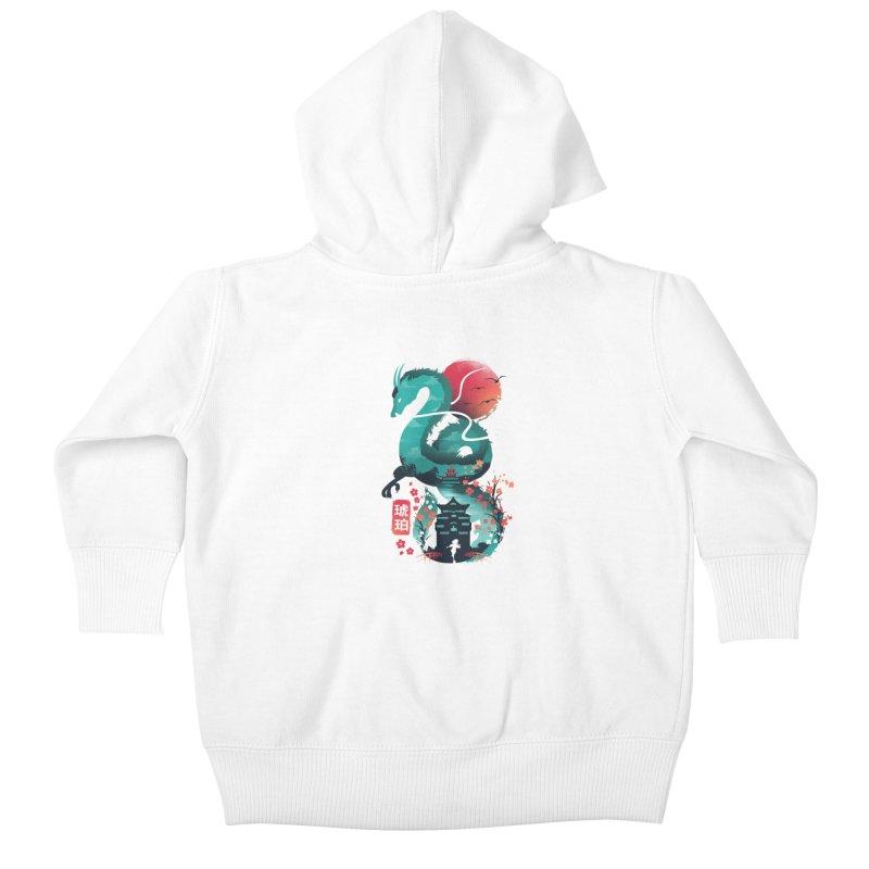 Haku Ukiyoe Kids Baby Zip-Up Hoody by dandingeroz's Artist Shop