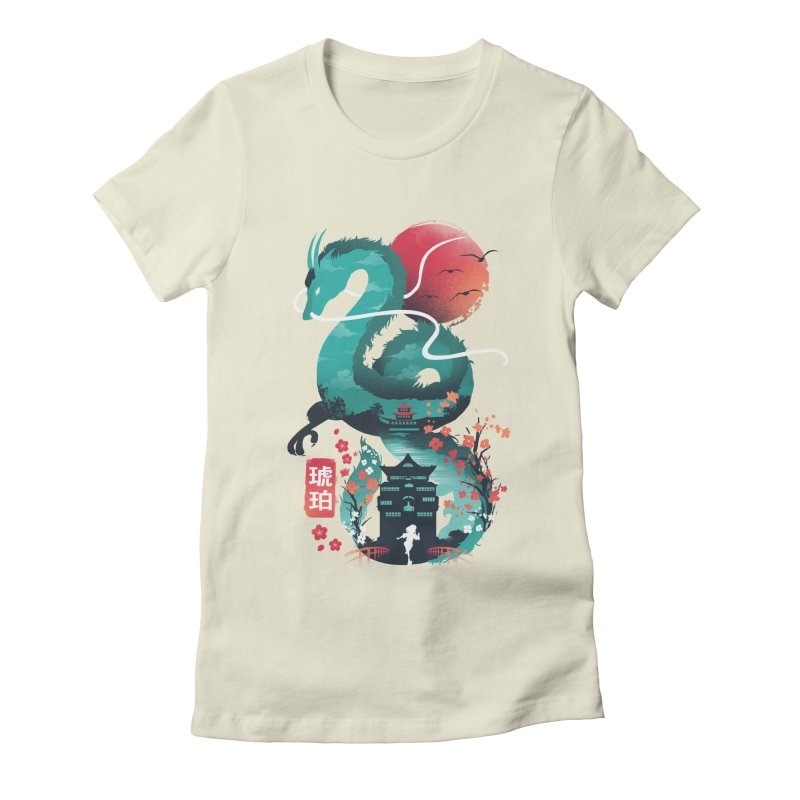 Haku Ukiyoe Women's Fitted T-Shirt by dandingeroz's Artist Shop