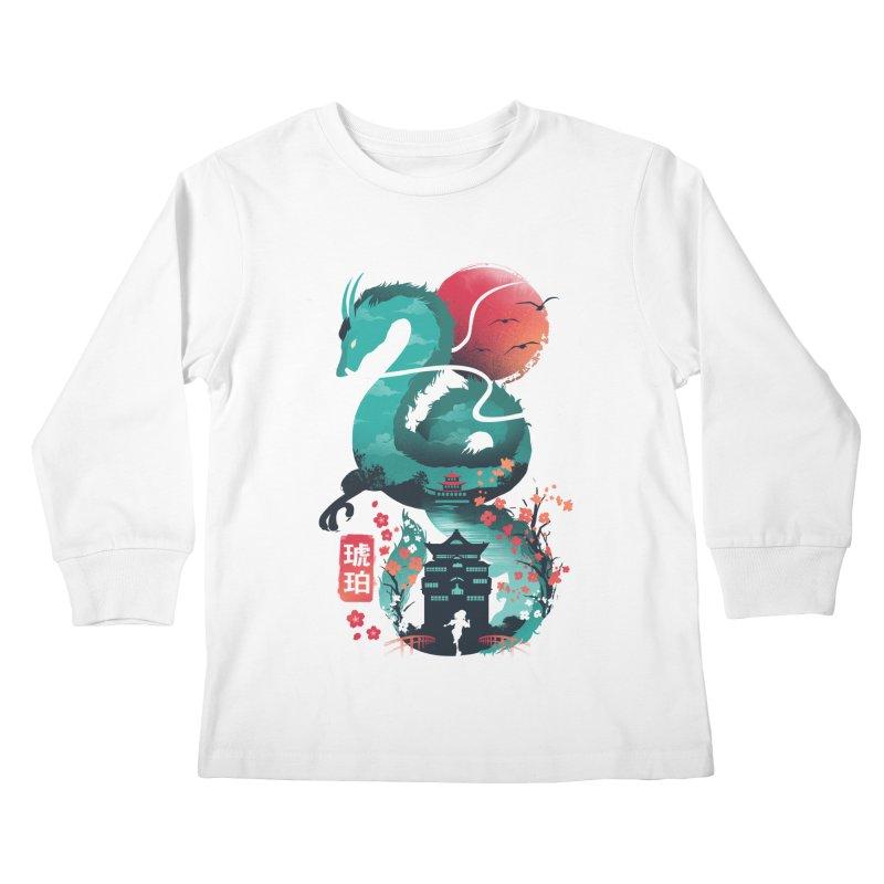 Haku Ukiyoe Kids Longsleeve T-Shirt by dandingeroz's Artist Shop