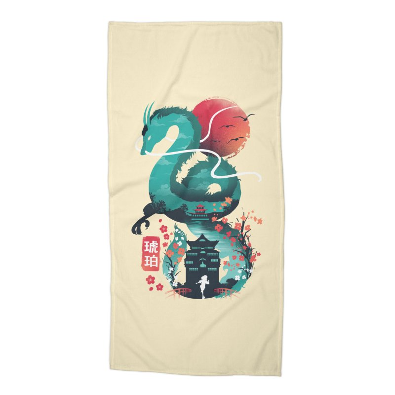 Haku Ukiyoe Accessories Beach Towel by dandingeroz's Artist Shop