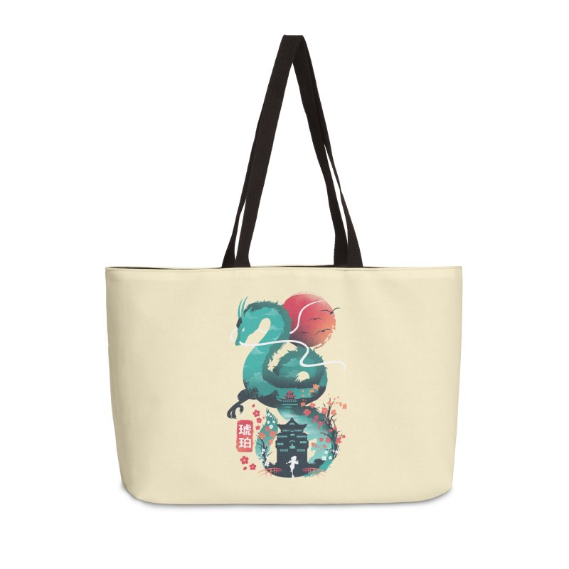 Haku Ukiyoe Accessories Weekender Bag Bag by dandingeroz's Artist Shop