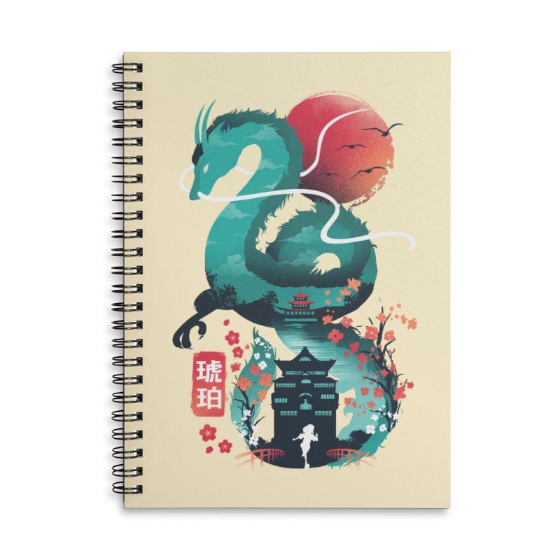 Haku Ukiyoe Accessories Lined Spiral Notebook by dandingeroz's Artist Shop