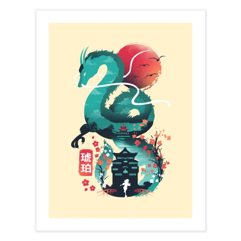 Haku Ukiyoe Home Fine Art Print by dandingeroz's Artist Shop
