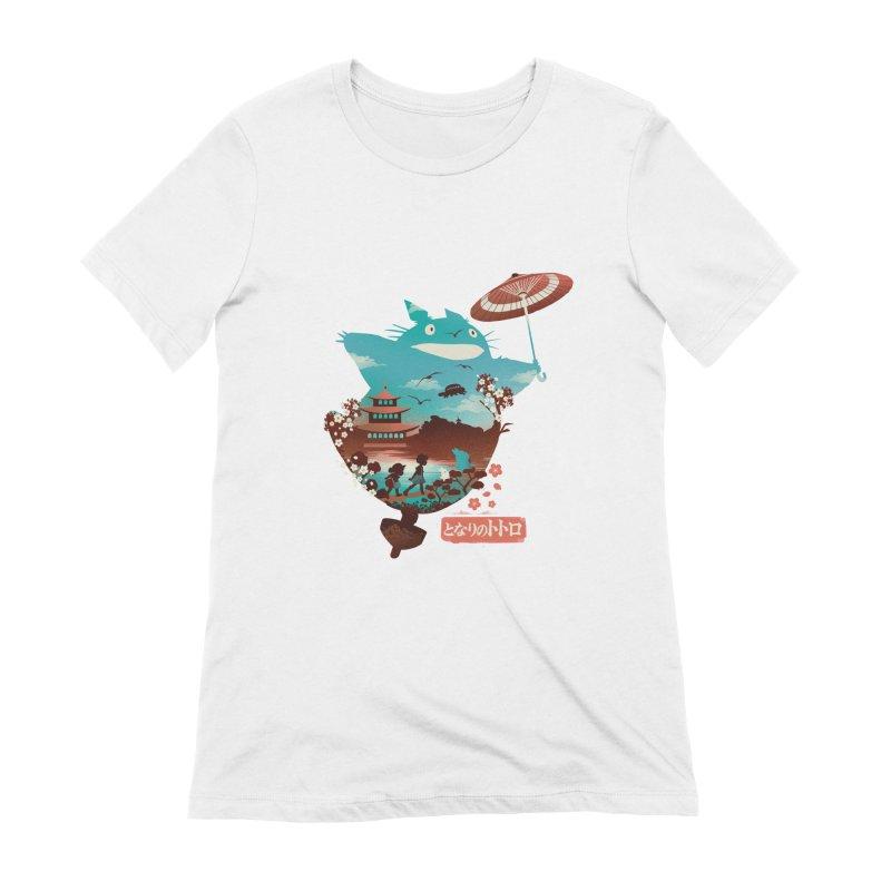 Happy Neighbor Ukiyoe Women's Extra Soft T-Shirt by dandingeroz's Artist Shop