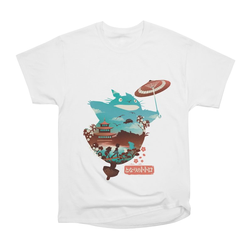 Happy Neighbor Ukiyoe Men's Heavyweight T-Shirt by dandingeroz's Artist Shop