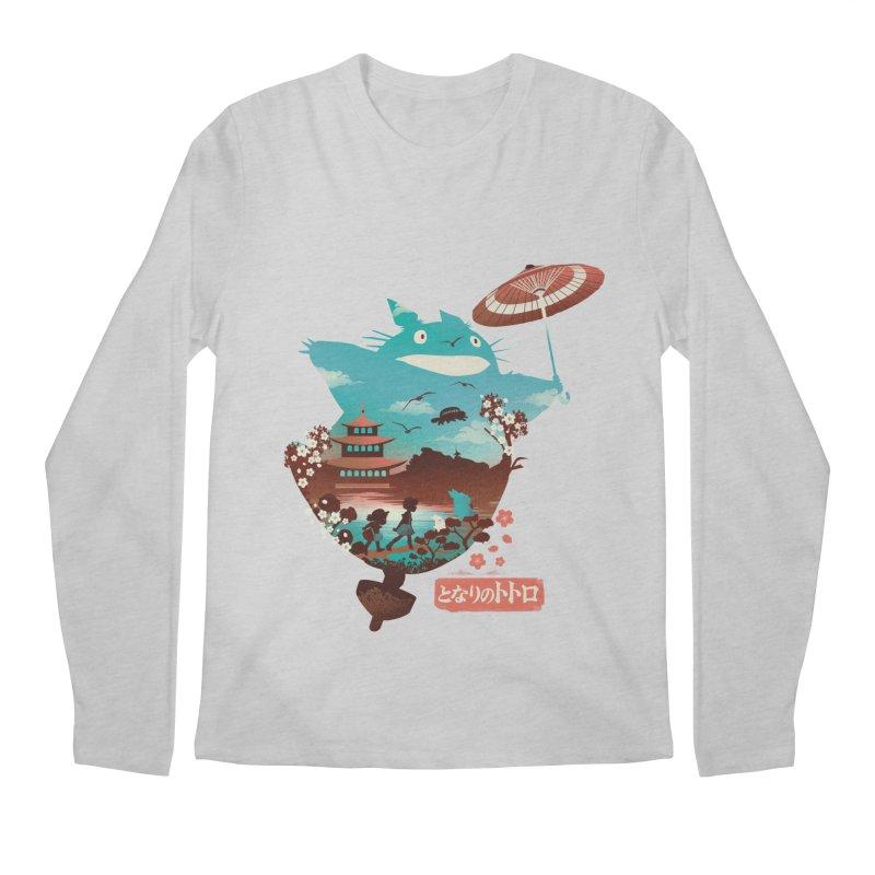 Happy Neighbor Ukiyoe Men's Regular Longsleeve T-Shirt by dandingeroz's Artist Shop