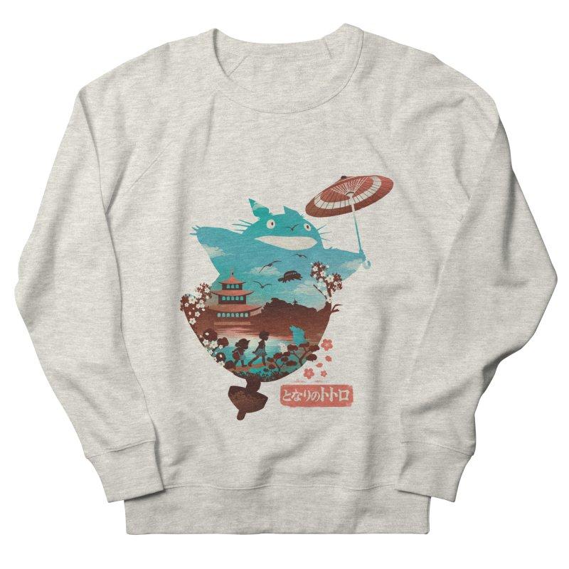 Happy Neighbor Ukiyoe Women's French Terry Sweatshirt by dandingeroz's Artist Shop