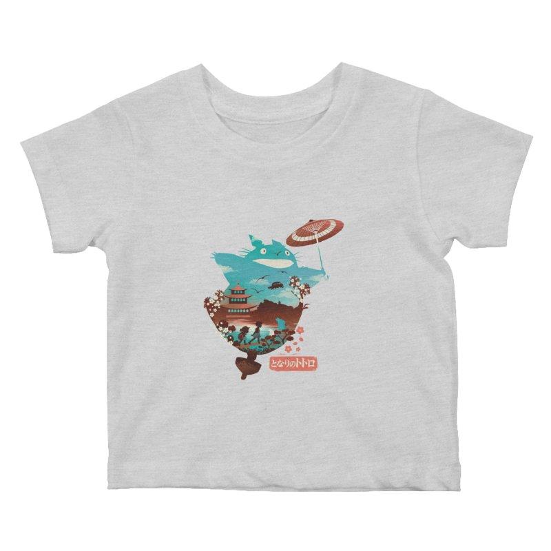 Happy Neighbor Ukiyoe Kids Baby T-Shirt by dandingeroz's Artist Shop