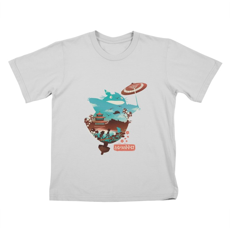 Happy Neighbor Ukiyoe Kids T-Shirt by dandingeroz's Artist Shop