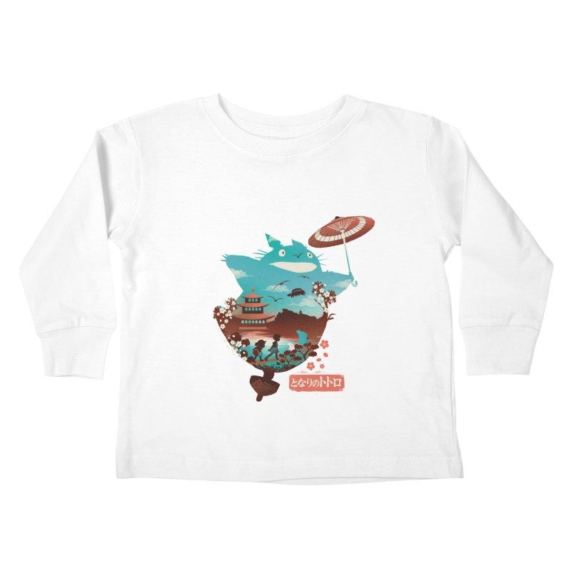 Happy Neighbor Ukiyoe Kids Toddler Longsleeve T-Shirt by dandingeroz's Artist Shop