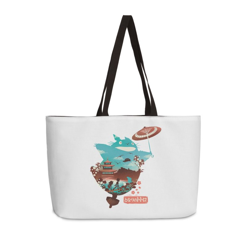 Happy Neighbor Ukiyoe Accessories Weekender Bag Bag by dandingeroz's Artist Shop