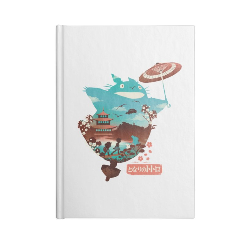 Happy Neighbor Ukiyoe Accessories Blank Journal Notebook by dandingeroz's Artist Shop