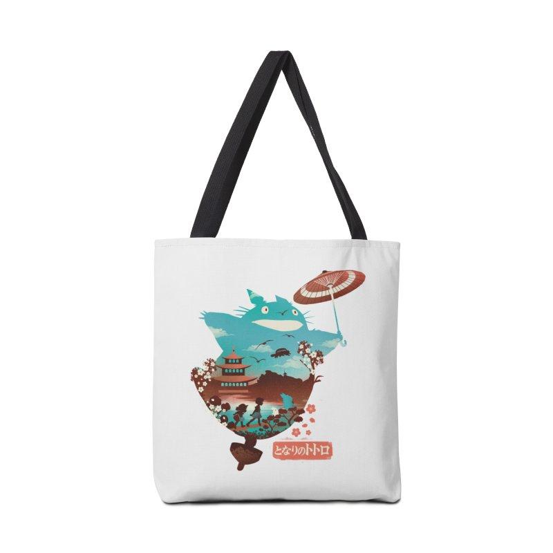 Happy Neighbor Ukiyoe Accessories Tote Bag Bag by dandingeroz's Artist Shop