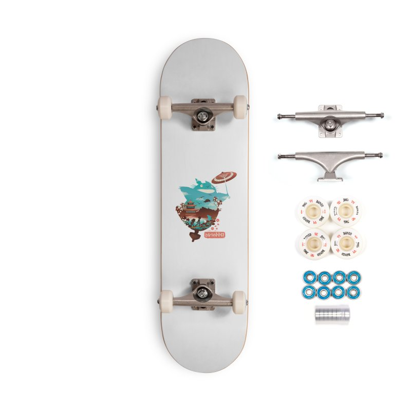 Happy Neighbor Ukiyoe Accessories Complete - Premium Skateboard by dandingeroz's Artist Shop