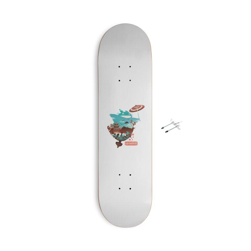 Happy Neighbor Ukiyoe Accessories With Hanging Hardware Skateboard by dandingeroz's Artist Shop