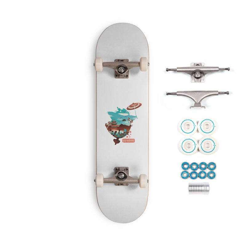 Happy Neighbor Ukiyoe Accessories Complete - Basic Skateboard by dandingeroz's Artist Shop