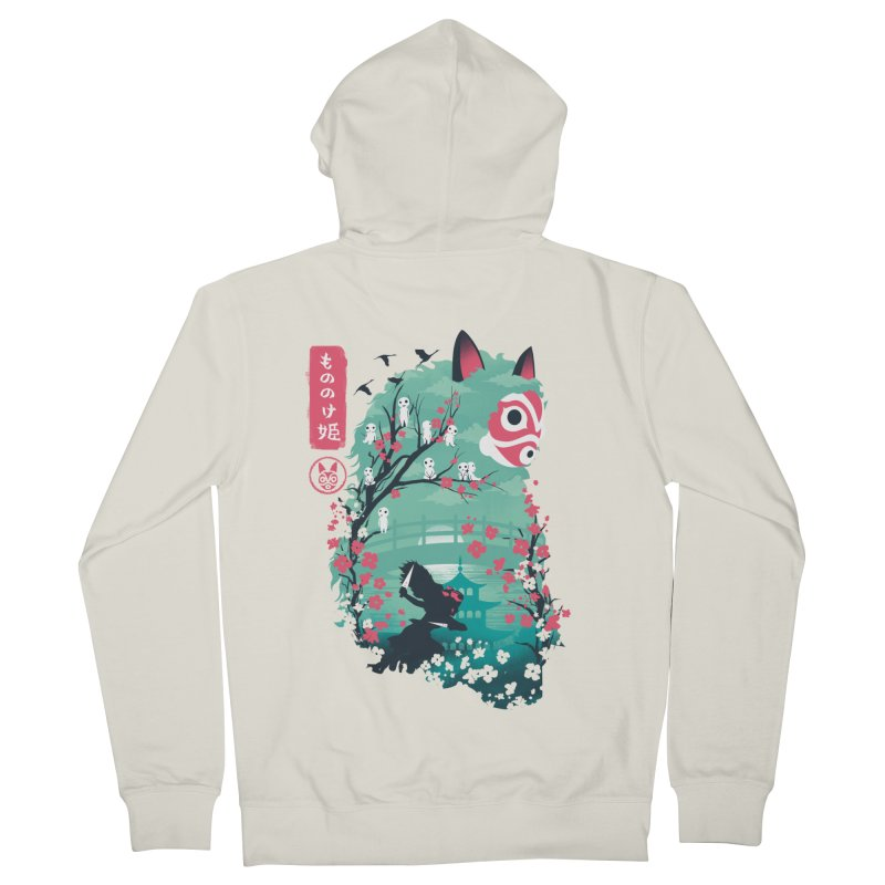 Ukiyo e Princess Women's French Terry Zip-Up Hoody by dandingeroz's Artist Shop