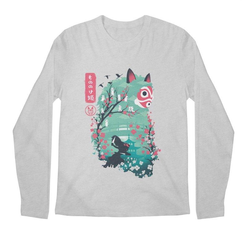 Ukiyo e Princess Men's Regular Longsleeve T-Shirt by dandingeroz's Artist Shop