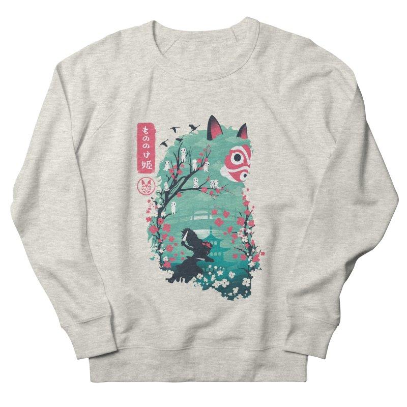 Ukiyo e Princess Men's French Terry Sweatshirt by dandingeroz's Artist Shop