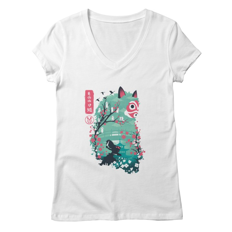 Ukiyo e Princess Women's Regular V-Neck by dandingeroz's Artist Shop