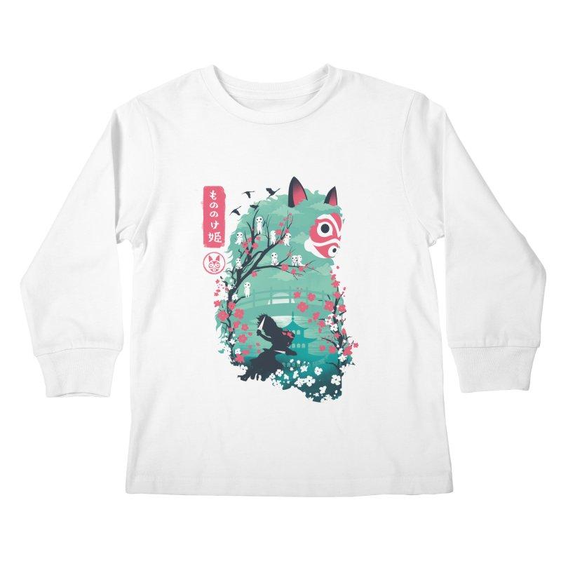 Ukiyo e Princess Kids Longsleeve T-Shirt by dandingeroz's Artist Shop
