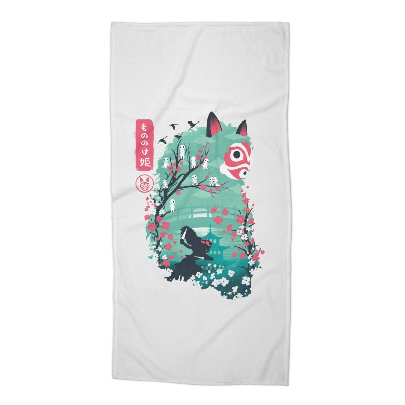 Ukiyo e Princess Accessories Beach Towel by dandingeroz's Artist Shop