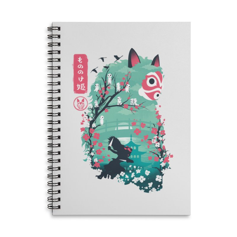 Ukiyo e Princess Accessories Lined Spiral Notebook by dandingeroz's Artist Shop