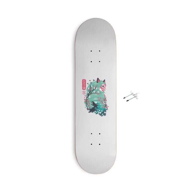 Ukiyo e Princess Accessories With Hanging Hardware Skateboard by dandingeroz's Artist Shop