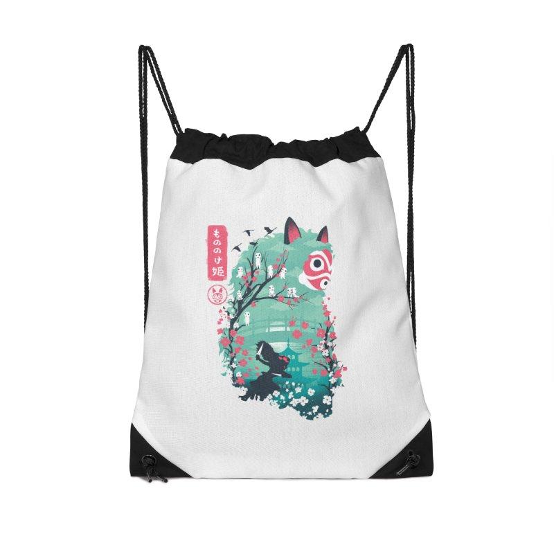 Ukiyo e Princess Accessories Drawstring Bag Bag by dandingeroz's Artist Shop