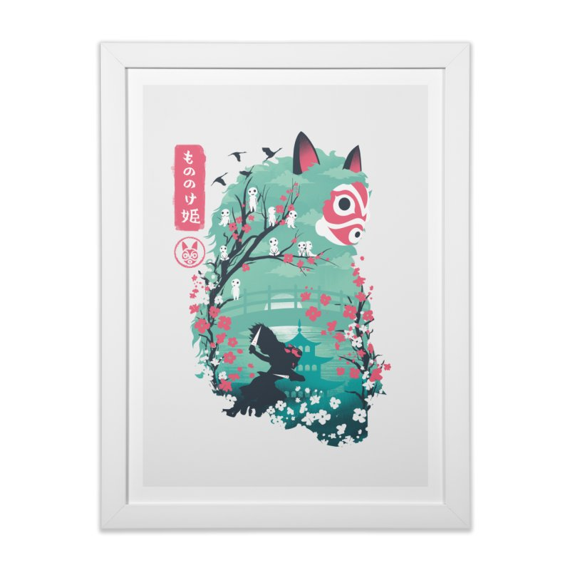 Ukiyo e Princess in Framed Fine Art Print White by dandingeroz's Artist Shop