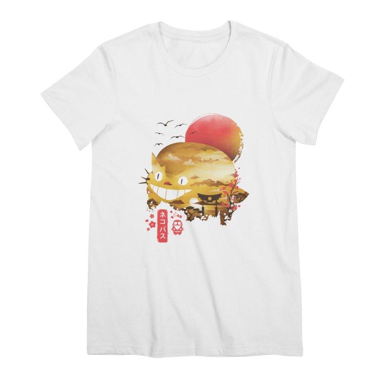 Ukiyo e Catbus Women's Premium T-Shirt by dandingeroz's Artist Shop