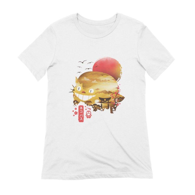 Ukiyo e Catbus Women's Extra Soft T-Shirt by dandingeroz's Artist Shop