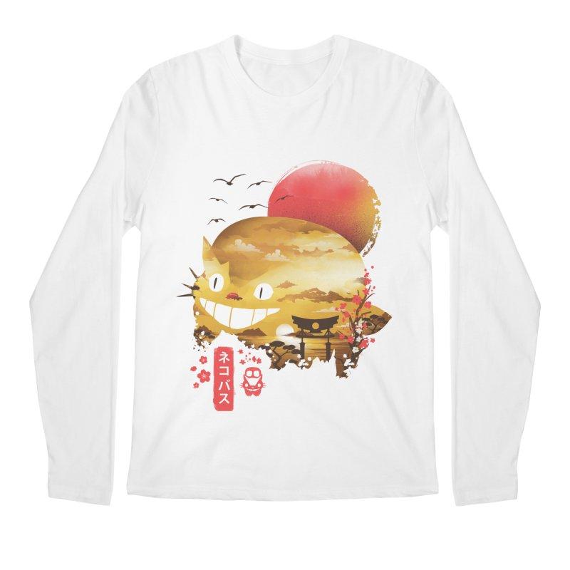 Ukiyo e Catbus Men's Regular Longsleeve T-Shirt by dandingeroz's Artist Shop