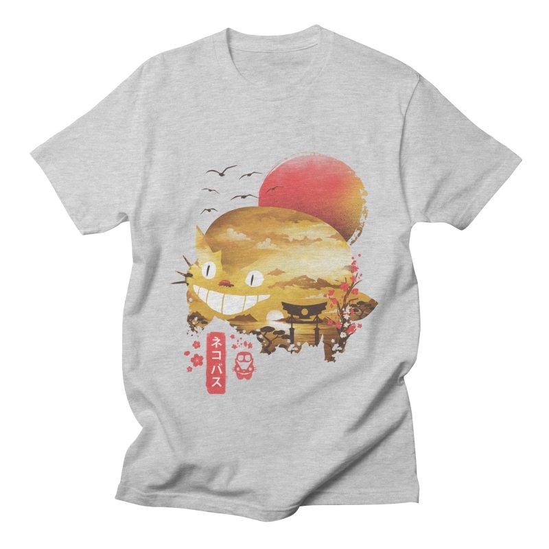 Ukiyo e Catbus Men's Regular T-Shirt by dandingeroz's Artist Shop