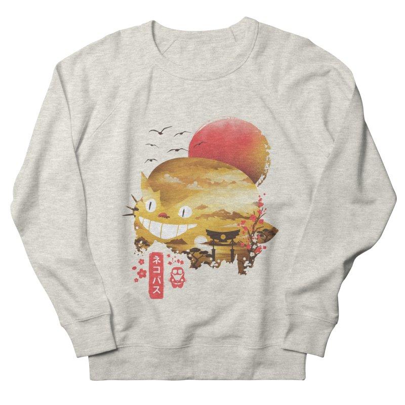 Ukiyo e Catbus Men's French Terry Sweatshirt by dandingeroz's Artist Shop