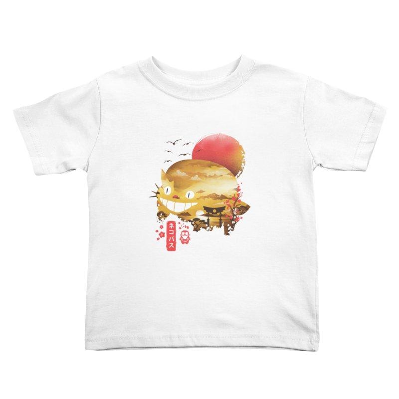 Ukiyo e Catbus Kids Toddler T-Shirt by dandingeroz's Artist Shop