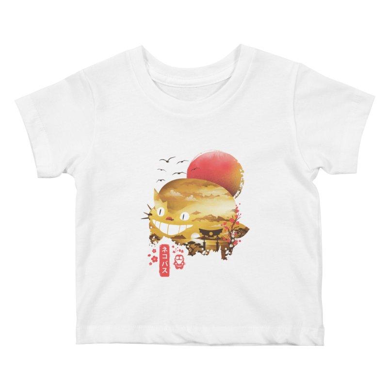 Ukiyo e Catbus Kids Baby T-Shirt by dandingeroz's Artist Shop