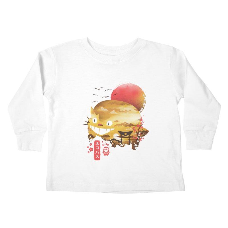 Ukiyo e Catbus Kids Toddler Longsleeve T-Shirt by dandingeroz's Artist Shop