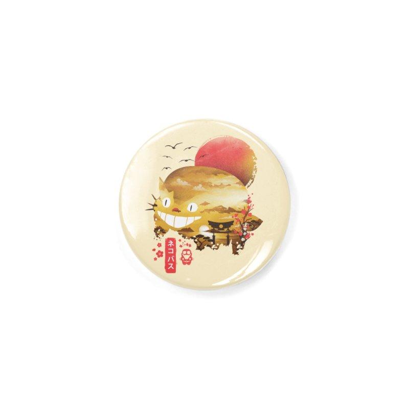 Ukiyo e Catbus Accessories Button by dandingeroz's Artist Shop
