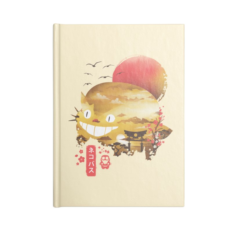 Ukiyo e Catbus Accessories Blank Journal Notebook by dandingeroz's Artist Shop