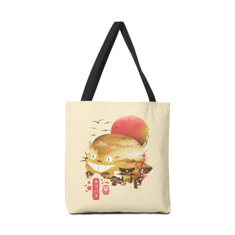 Ukiyo e Catbus Accessories Tote Bag Bag by dandingeroz's Artist Shop