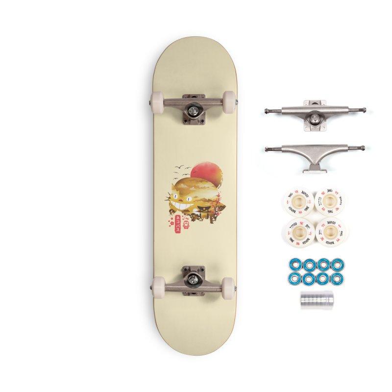 Ukiyo e Catbus Accessories Complete - Premium Skateboard by dandingeroz's Artist Shop