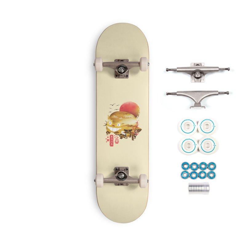 Ukiyo e Catbus Accessories Complete - Basic Skateboard by dandingeroz's Artist Shop
