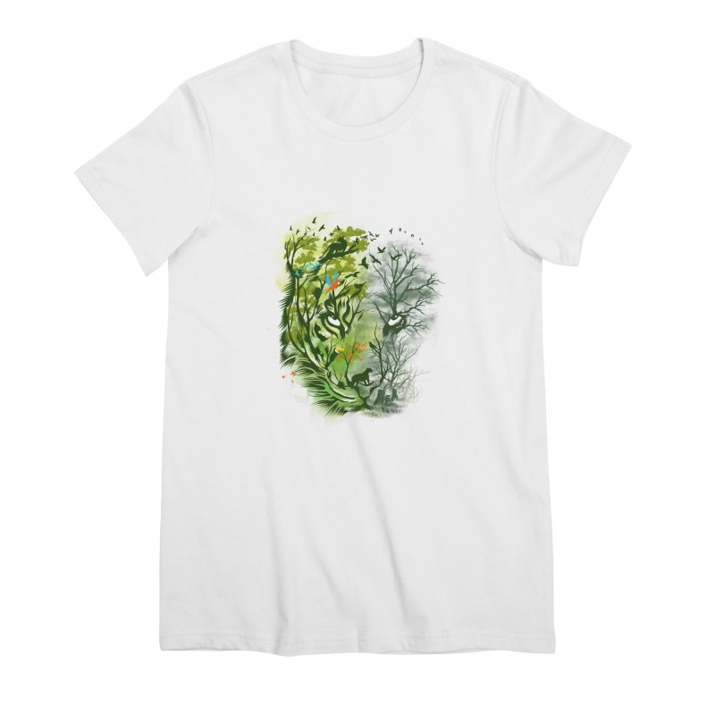 Save the Forest Women's Premium T-Shirt by dandingeroz's Artist Shop